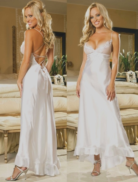 Wedding Night Charmeuse Gown Ideas For Newlyweds The