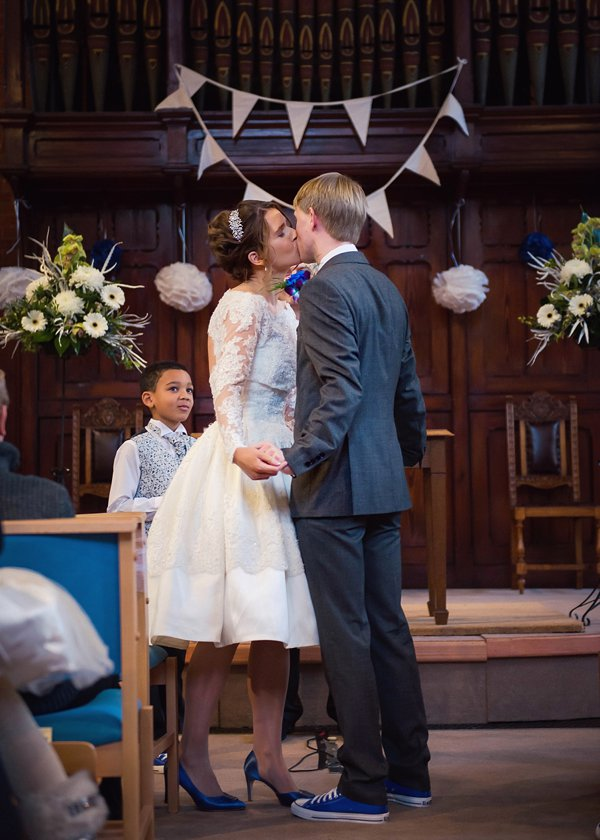A Gorgeous Church Hall Anglo Dutch Wedding With 50 S Dress Lego
