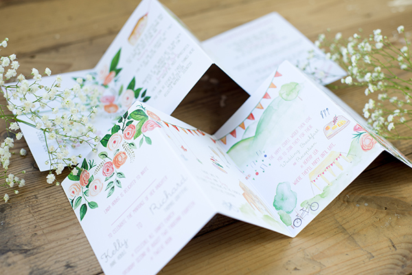 Concertina Design Yellowstone Paperworks Contemporary Wedding Stationery Image By Hollybooth Photography