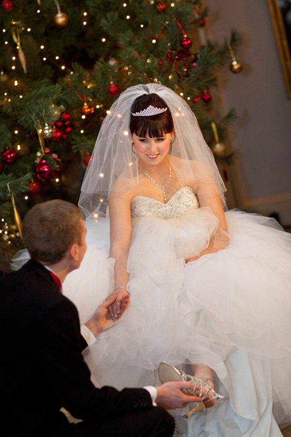 A Modern Day Fairytale Inspired Christmas Wedding With Ronald Joyce Gown